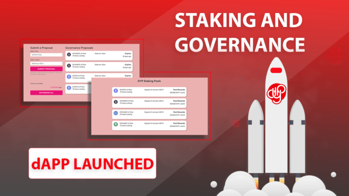DeFi Yield Protocol (DYP) Staking and Governance is Now Live